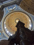 The alter by Bernini pointing to the dome