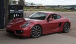 Rich Edgington came down from Colorado to do the drive in his new (to him) 981 Cayman S in amaranth red. What a beautiful color!