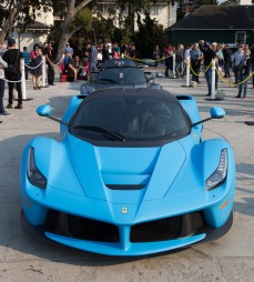 A special blue La Ferrari