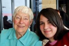 Mum with grand daughter Kirsten