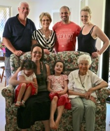 Paul's family sans Robert and new grandchildren from Louise