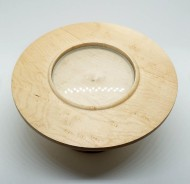 "6"" Birdseye maple with 3"" double concave boro lens ($80)"
